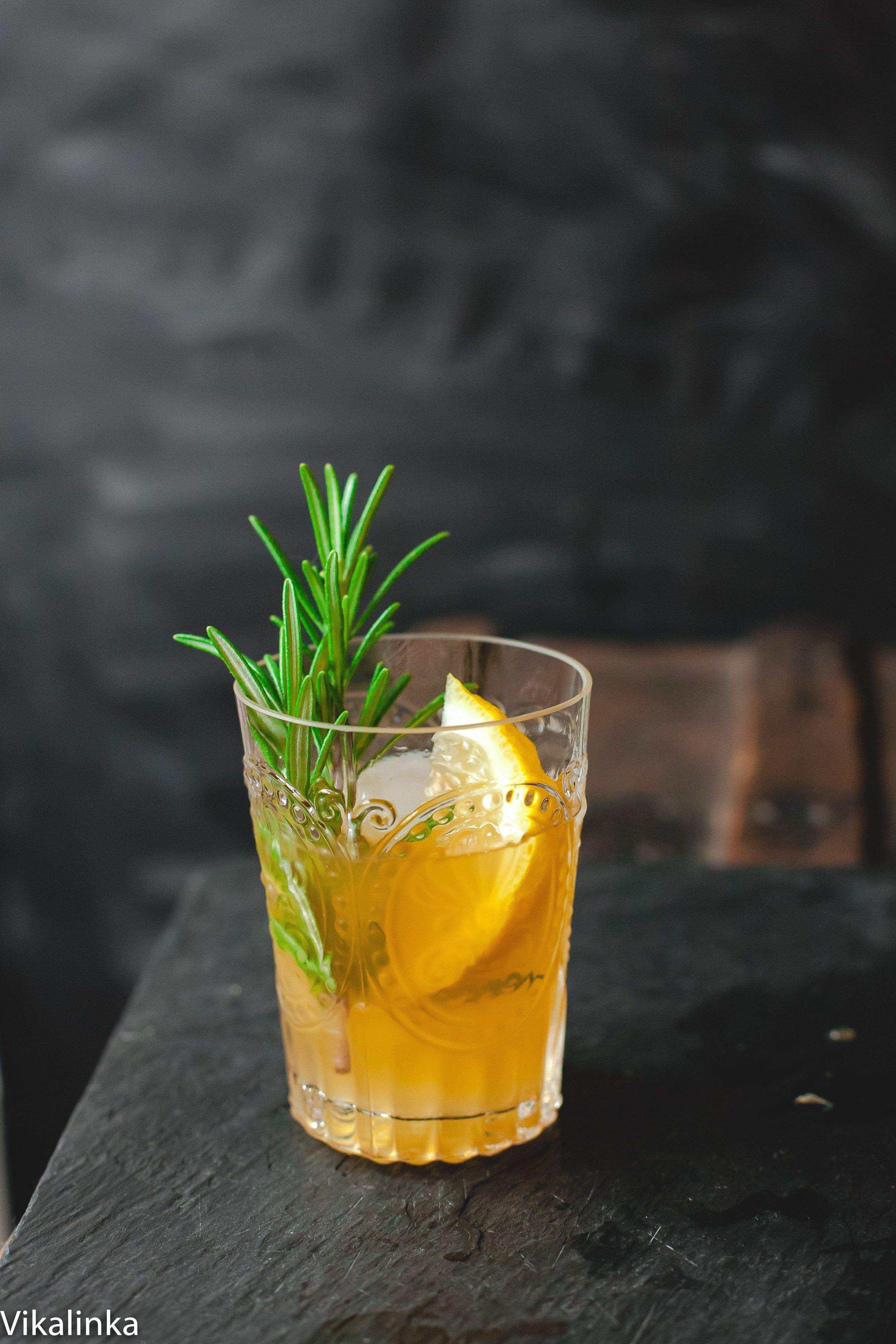ebdb1b0a5d2f7 Cognac Sour- a perfect balance of sweet and sour infused with woodsy scent  of fresh rosemary.
