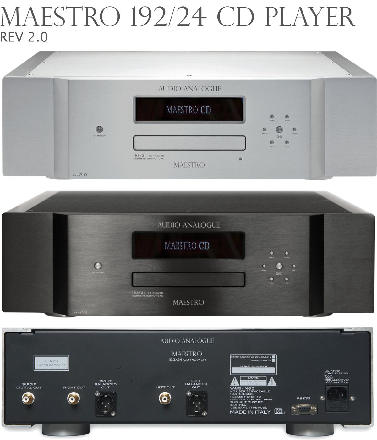 MAESTRO 192/24 REV2.0 CD PLAYER