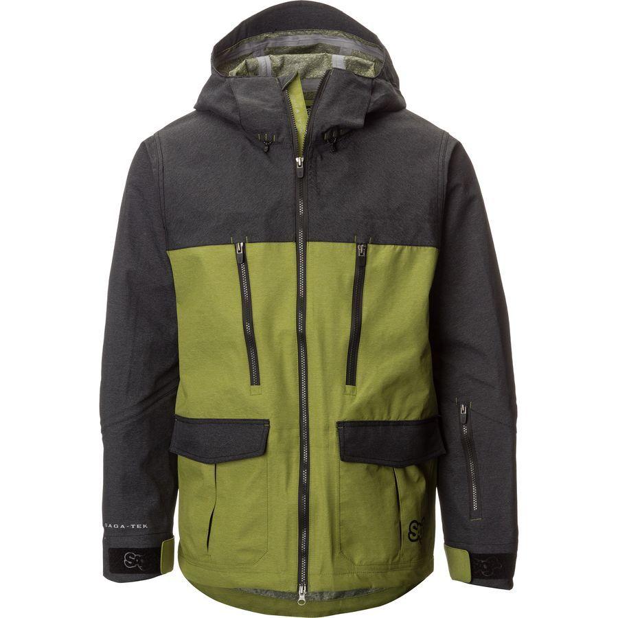 Saga Monarch 3l Jacket Men S Green Snowboard Jacket Mens Mens Jackets Snowboarding Men [ 900 x 900 Pixel ]