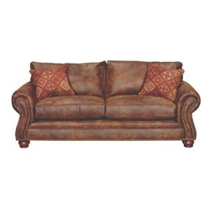 Best Classic Classic Brown Sofa Tahoe Faux Leather Sofa 400 x 300