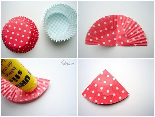 diy tuto ange en papier cupcake cupcake liners ornament and craft. Black Bedroom Furniture Sets. Home Design Ideas