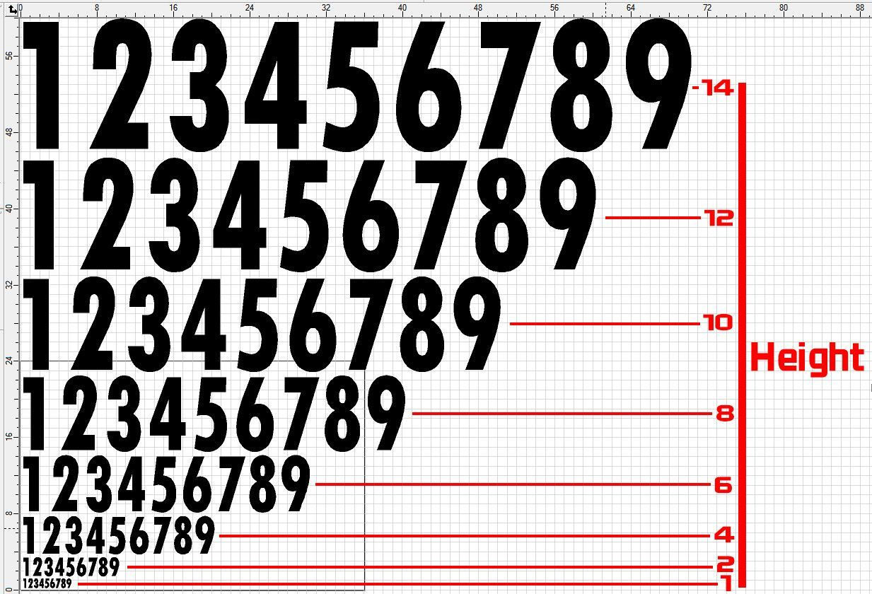 Race Numbers Font 1 Numbers, Fonts, In the heights