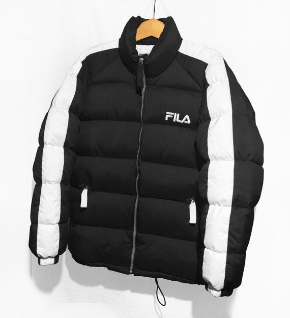 Fila Down Puffer jacket Vintage 90's Hip Hop Rap Style Color