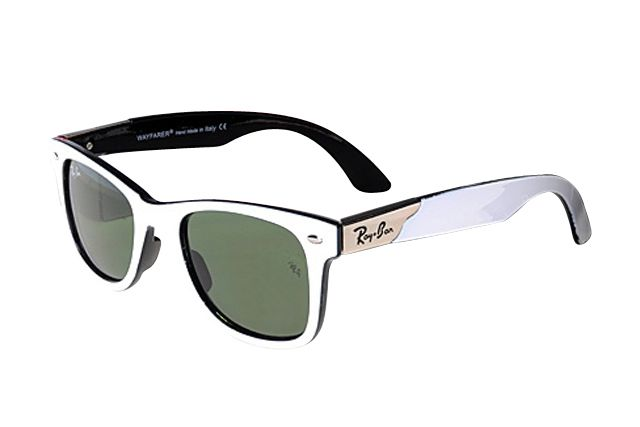 8d850e3a82 Classical Ray Ban Wayfarer RB2132 Sunglasses White Black Frame Green Lens  AMU With High Quality An Dnew Style Is Your Best Chioce To Show Your  Elegance!