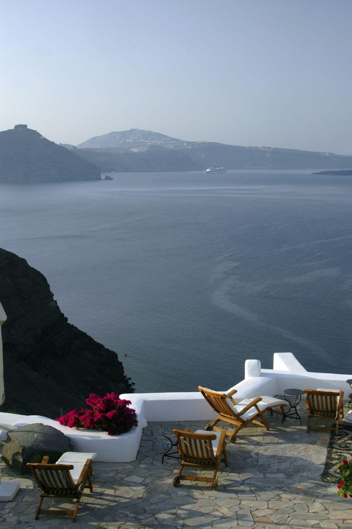 Balcony in magical Santorini