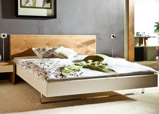 Ruhe \ Raum Bett Kendo knorrige Eiche massiv Betten Möbel