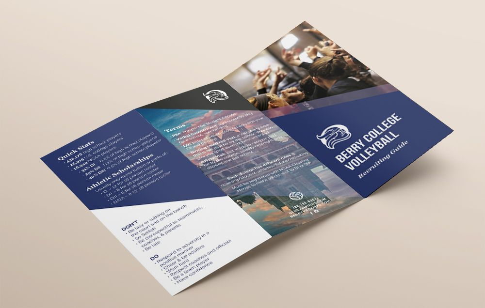 TriFold Brochure Design Berry College Recruiting Brochure  By