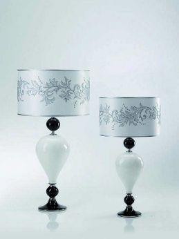 keramiklampe mit muranoglas