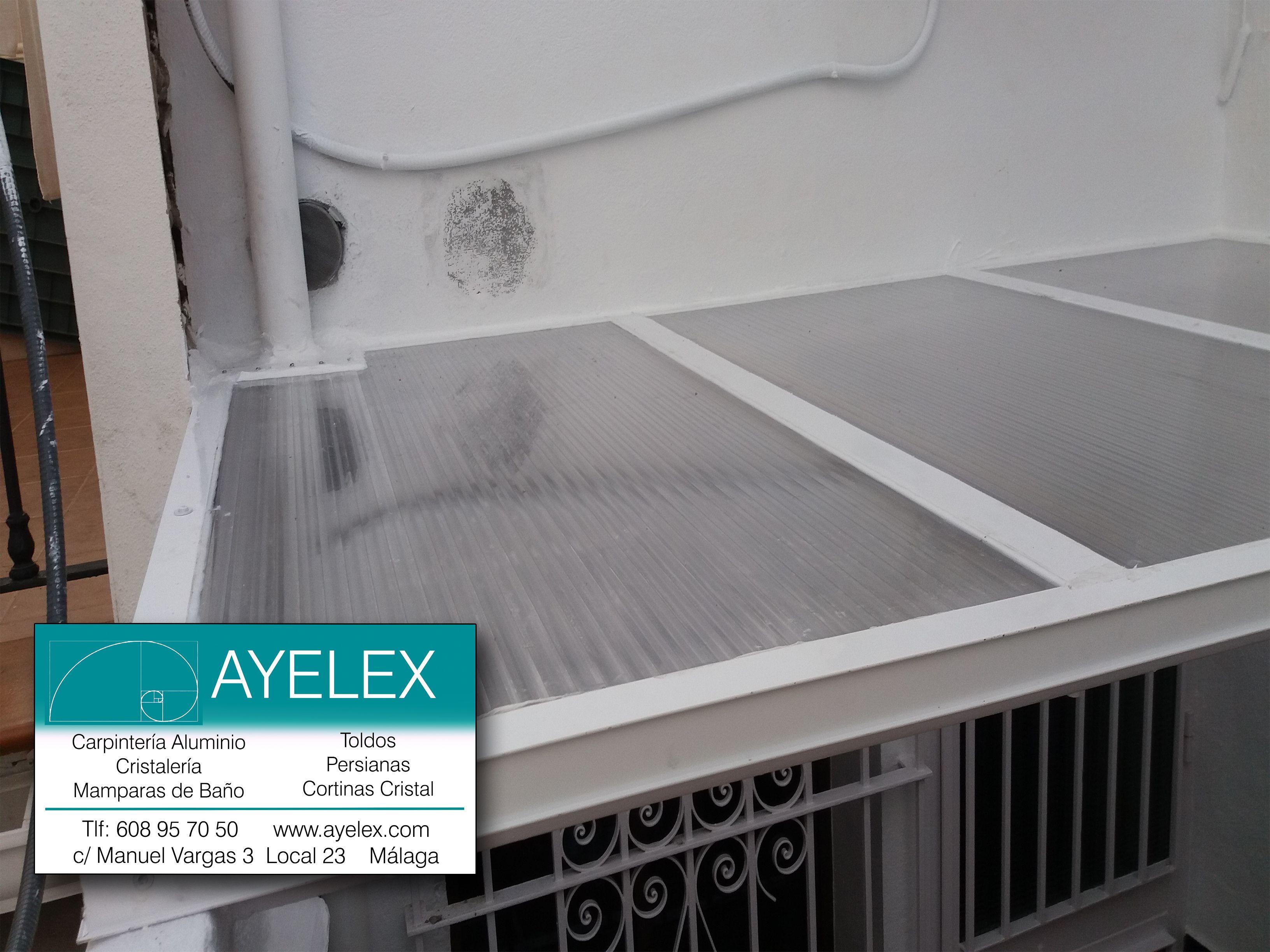Techo policarbonato celular transparente y estructura alum ayelex carpinter a aluminio y pvc - Techo transparente policarbonato ...