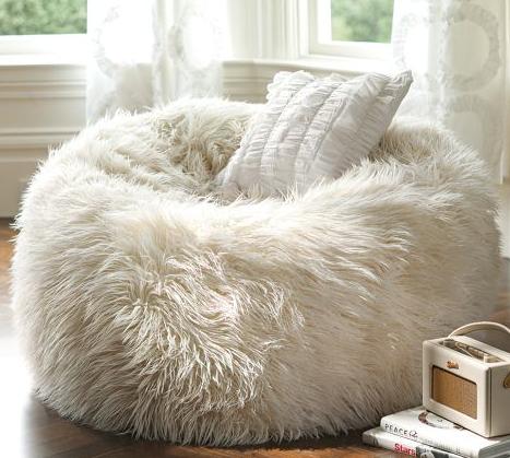 Fluffy Puff Bean Bag Chair White Fluffy Chair New Room