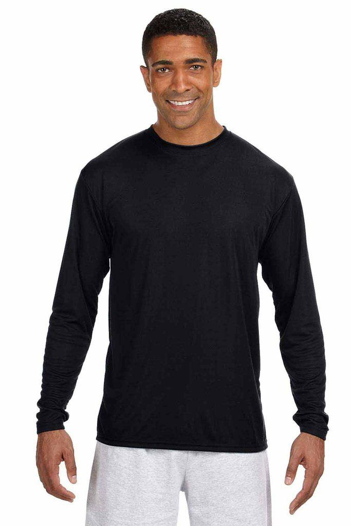 A4 Mens Cooling Performance Moisture Wicking Long Sleeve Crewneck