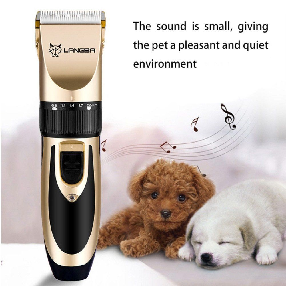 Showlovein Pet Grooming Clipper Kits Low Noise Rechargeable Cordless Quiet Cat Dog Groomer Tool Hair Trimmer Razor Blade Hair Clippers Hair Trimmer Beauty Tool