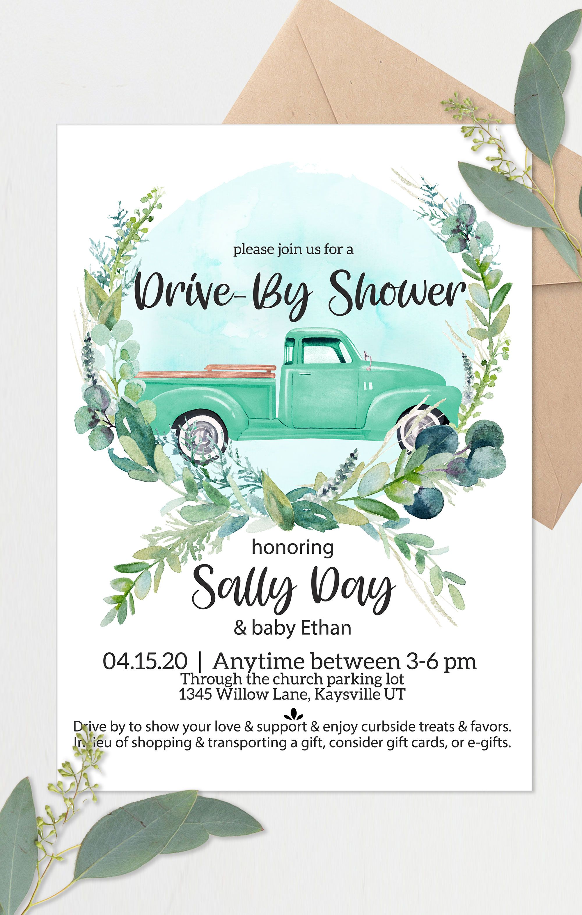 Pin on Drive by baby shower