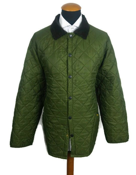 Men's Barbour Quilted Barn Jacket size XL Olive Army Green ...