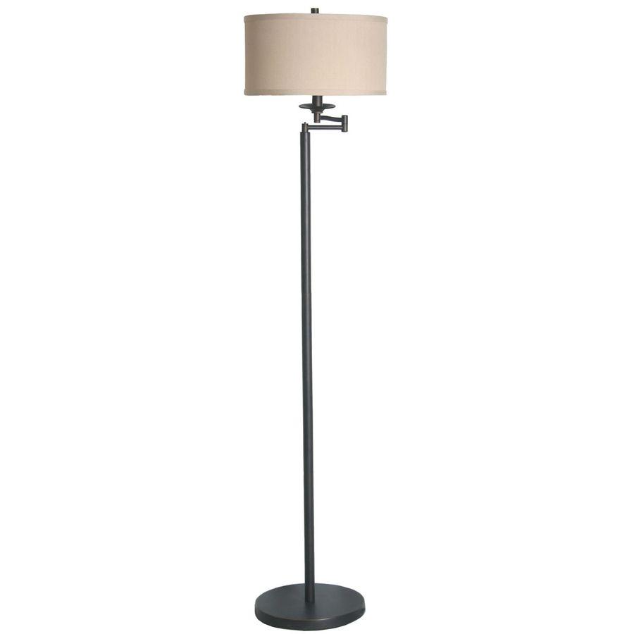 Shop allen roth 58in bronze floor lamp with fabric