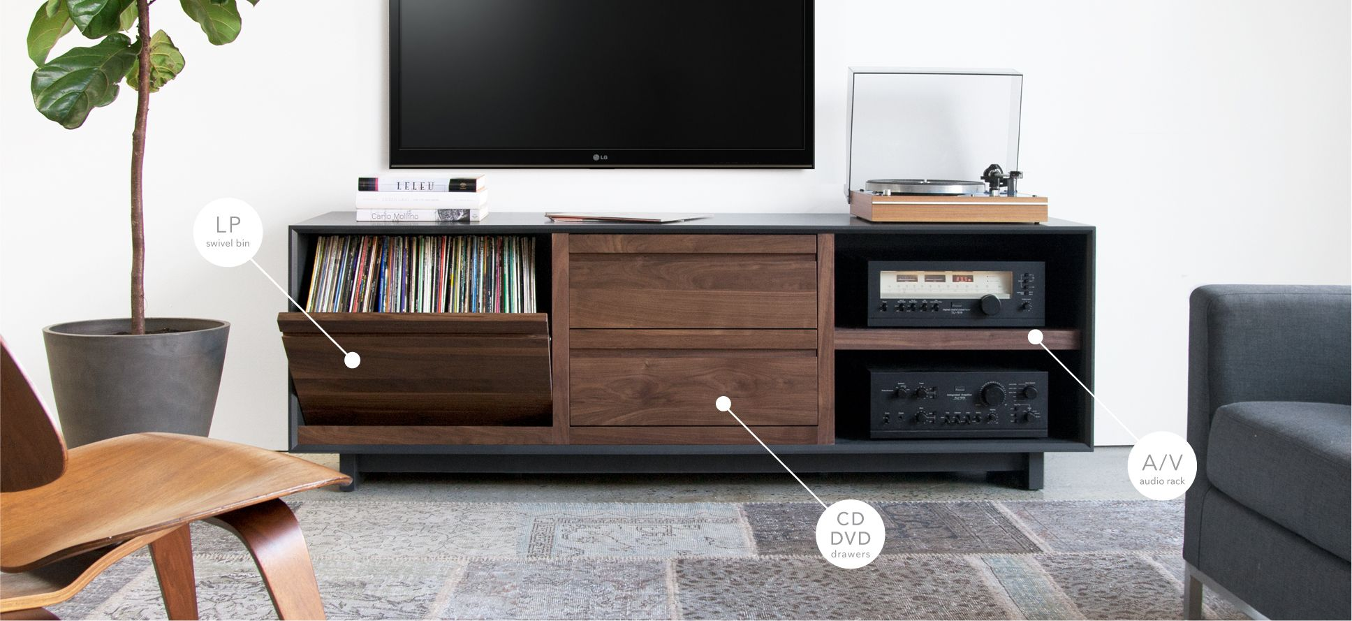 Symbol Audio Are A New York Company That Design And Handcraft Modern Entertainment Consoles Vinyl Lp Storage Cabinets