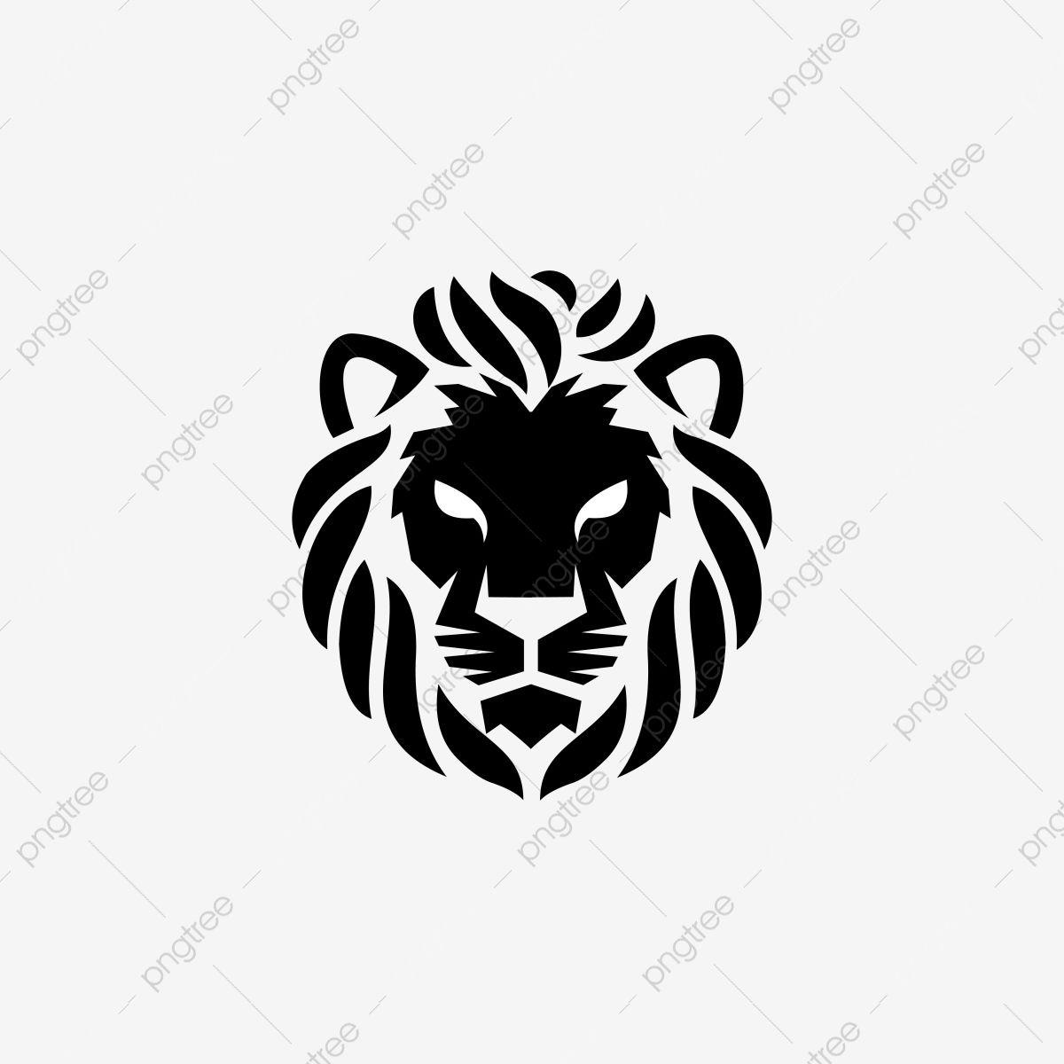 Illustration Of The Logo Of The Head Of A Black And White Lion King Of Lions A Wild Animal With A White Background Lion King Logo Icons Animal Icons Png And