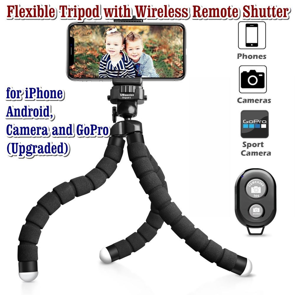 Phone Tripod Flexible Wireless Remote Shutter For Iphone Android