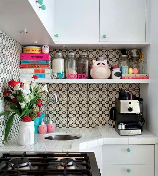 Cozinha pequena e divertida