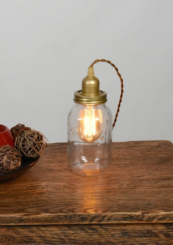 Vintage Reading Lamps For Your Living Room Mason Jar Lighting Glass Mason Jars Glass Jam Jars
