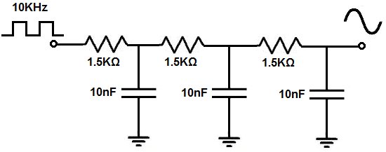 how to build a square wave to sine wave converter circuit