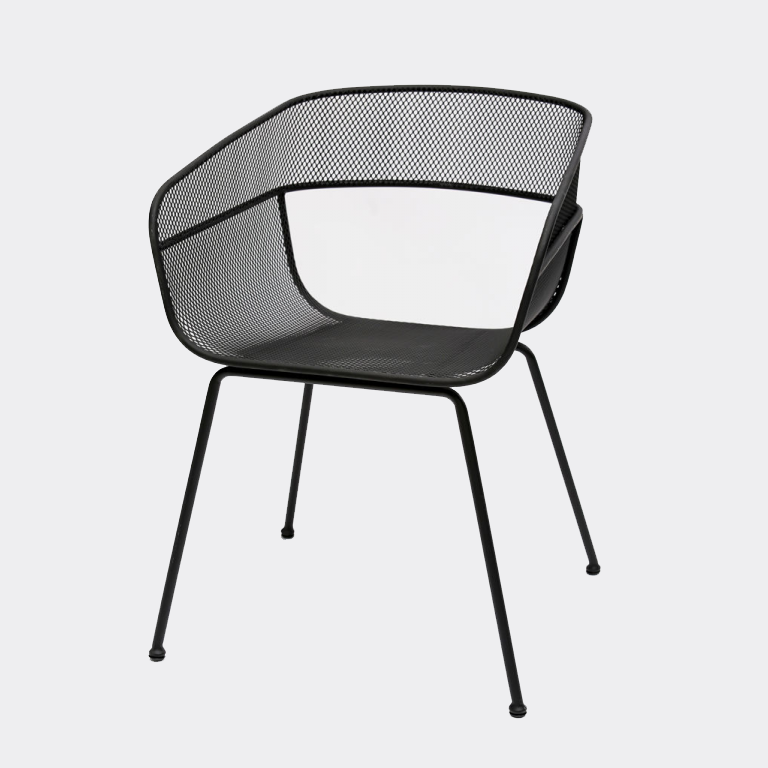 Scoop Outdoor Dining Chair In Black Images