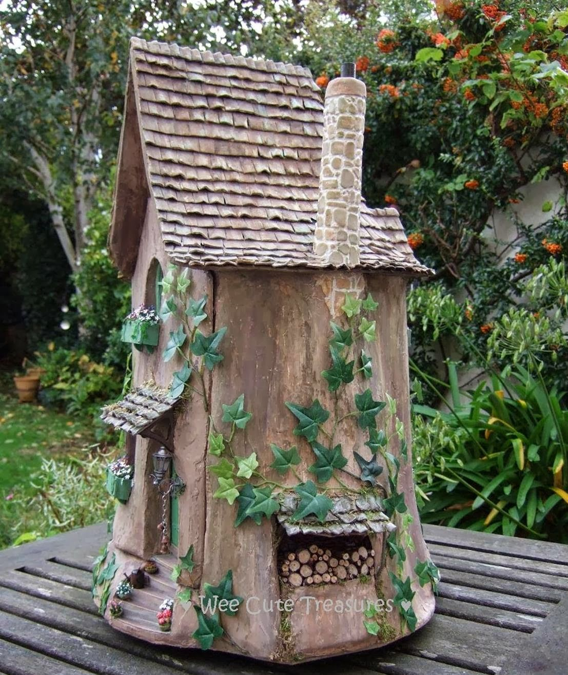 Life size fairy houses it is a fairy tree stump house in for House garden trees