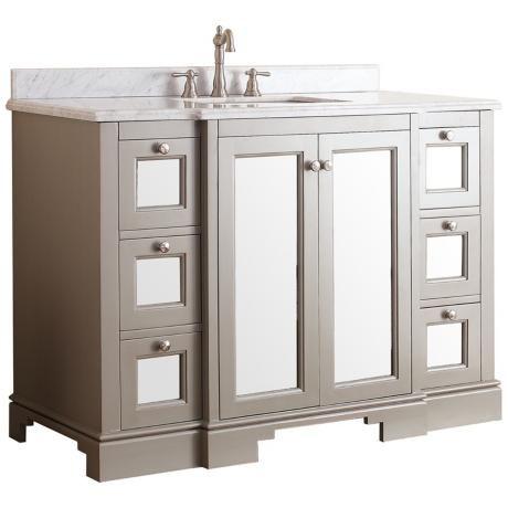 "Avanity Newport 48"" White Top French Gray Vanity -"