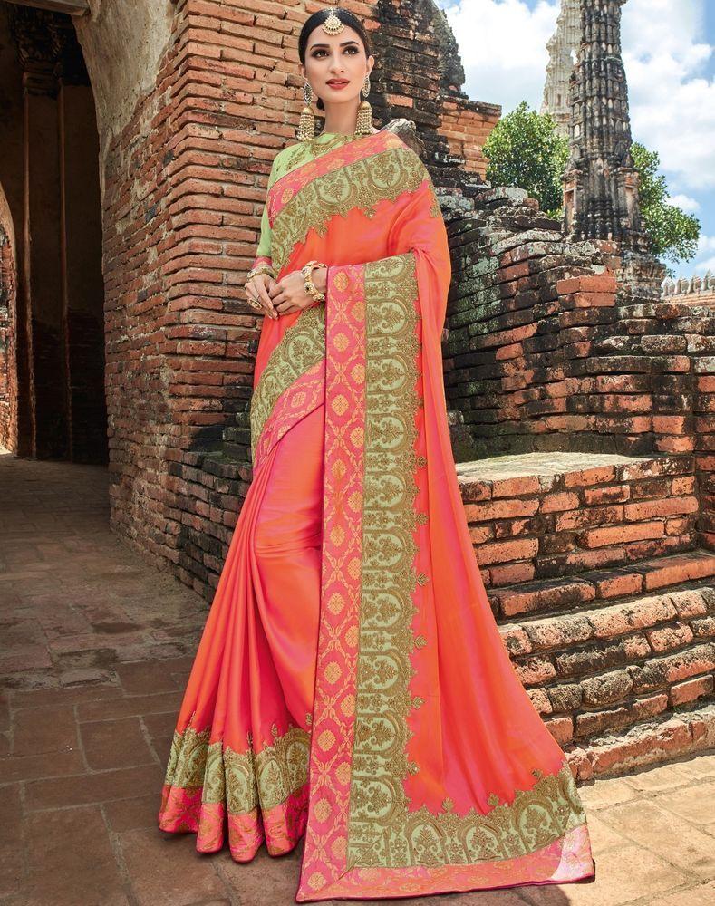 f64b6224037 Indian Designer Saree Sari Traditional Indian Ethnic Embroidered Bollywood  Party  NA  Sari