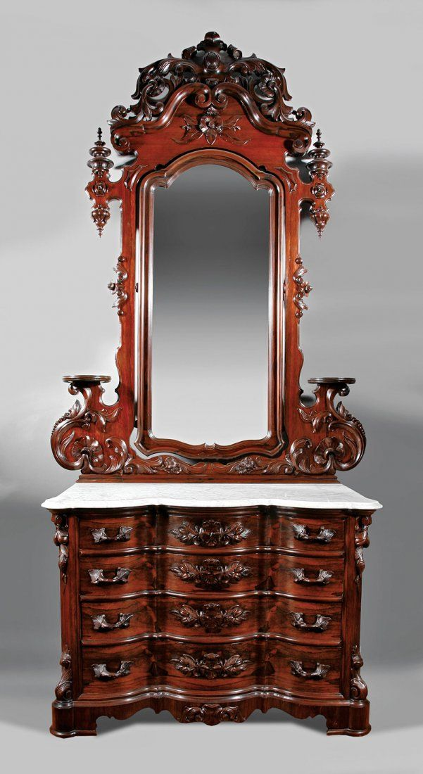 c1860 Rococo bedroom suite, rosewood, AC Richards, Cincinnati, OH, USA,  dresser-109