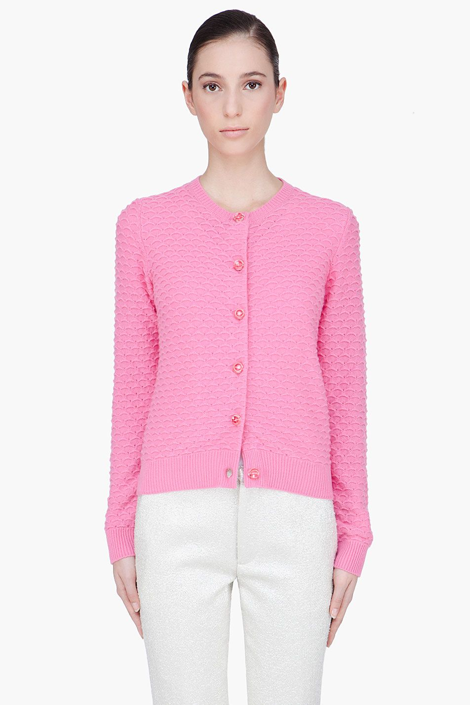 Marc Jacobs Pink Cashmere Knit Cardigan - Marc Jacobs Pink ...