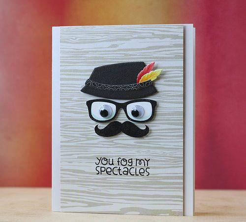 Paper Smooches April Blog Hop Paper Smooches Mustache Cards Cricut Cards