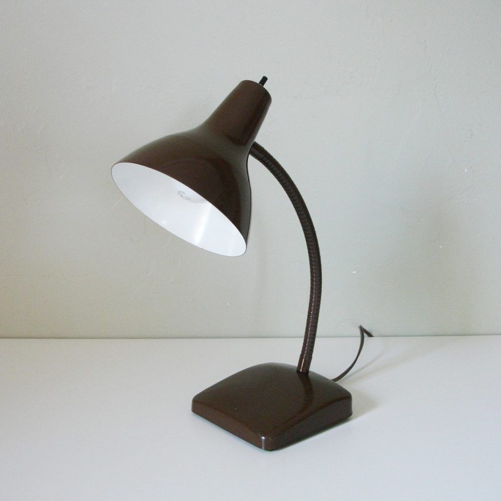 Vintage Brown Desk Lamp