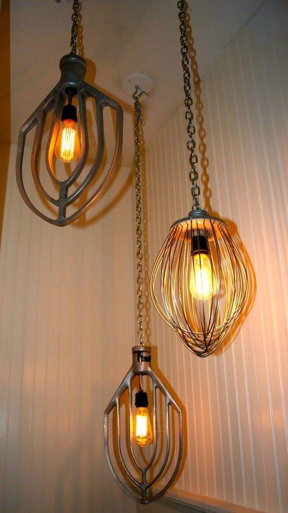 Lumin rias feitas com material reciclado lights - Idea casa biancheria mestre ...