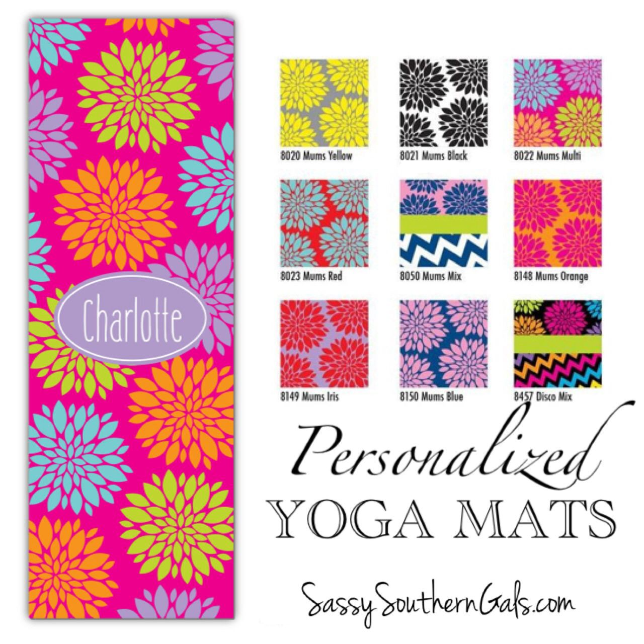 Monogrammed   Personalized Yoga Mat - Design Your Own 8fac3dd54e073