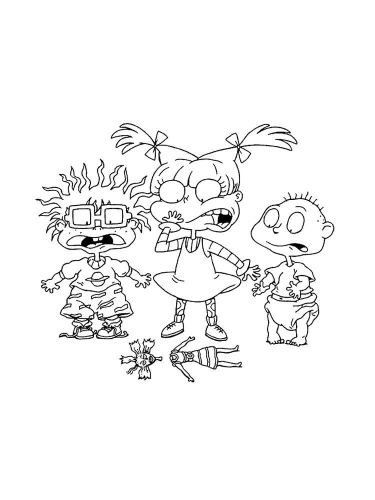 Printable Rugrats Characters Coloring Pages Remember The Nickelodeon Cartoon Series Rugrats The Tv Rugrats Characters Cartoon Coloring Pages Coloring Pages