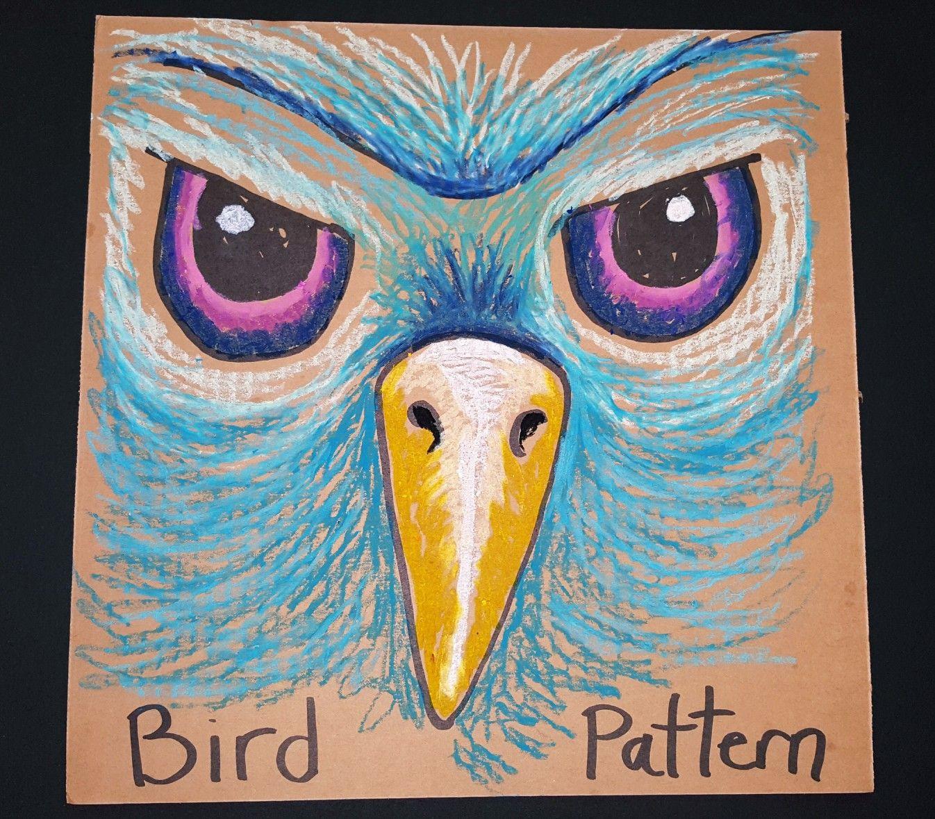 Bird Pattern For Oil Pastel 6th Grade