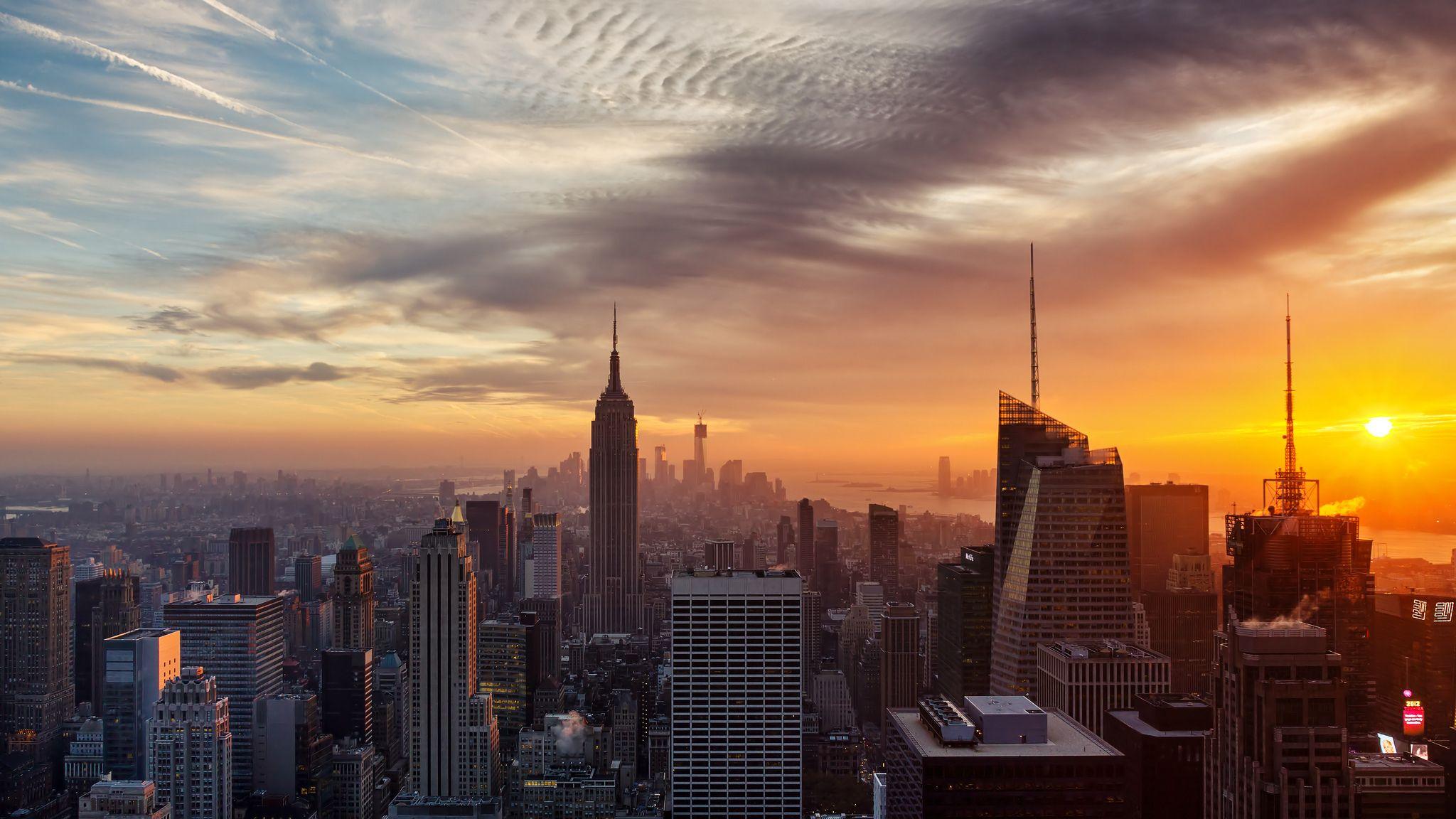 New York City Wallpaper Sunset Sunset City New York Wallpaper New York City Background