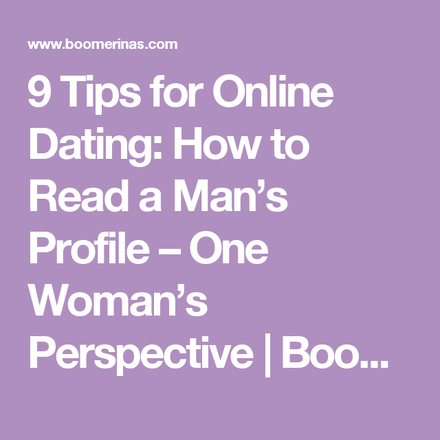 online dating from a mans perspective