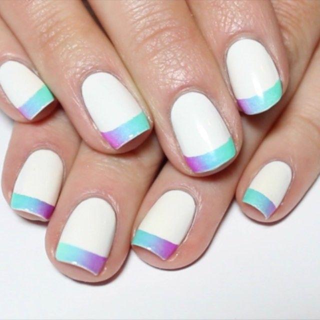 Nail Art Simple 2 Warna: Pin On Just Beautiful