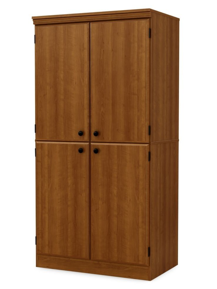 South Shore Morgan 4 Door Storage Cabinet Pine Door Storage Tall Cabinet Storage Storage