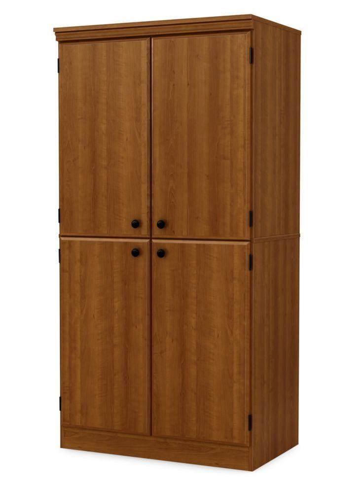 South Shore Morgan 4 Door Storage Cabinet Pine Door Storage Tall Cabinet Storage Storage