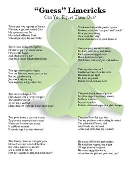 guess who what limericks homeschool limerick poetry middle school activities limerick poem. Black Bedroom Furniture Sets. Home Design Ideas