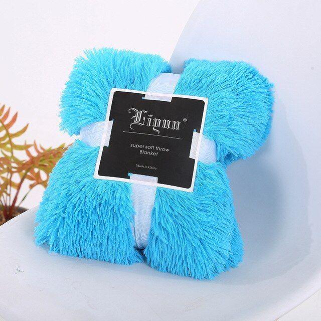 Soft Fuzzy Fur Faux Elegant Cozy With Fluffy Throw Blanket