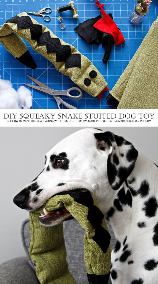 Diy Squeaky Stuffed Snake Dog Toy Dog Toys Diy Dog Toys Toy