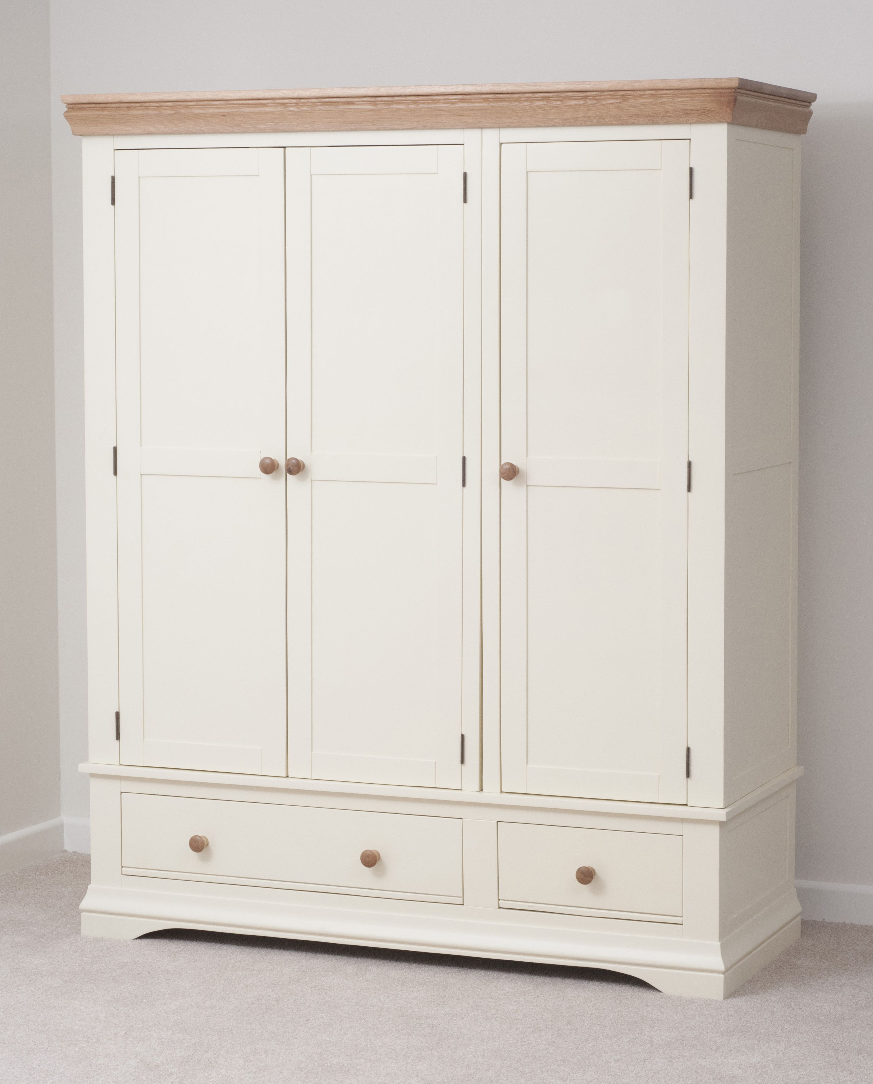 Country Cottage Painted Funiture Bedroom Cream Triple