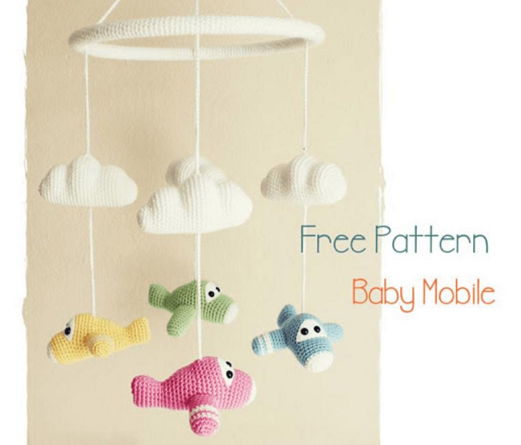 Patrón gratis amigurumi de móvil de avioncitos | cat crochet ...