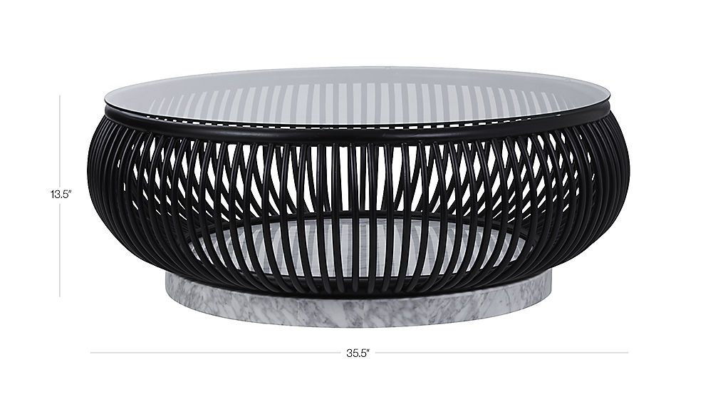 Haven Round Rattan Coffee Table Cb2 Coffee Table Modern