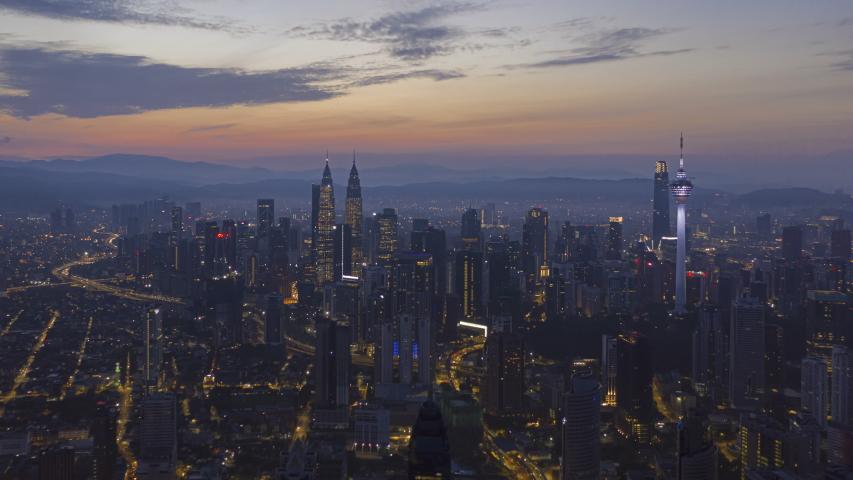 Time Lapse Beautiful City View Stock Footage Video 100 Royalty Free 1044146083 Kuala Lumpur City Skyline City