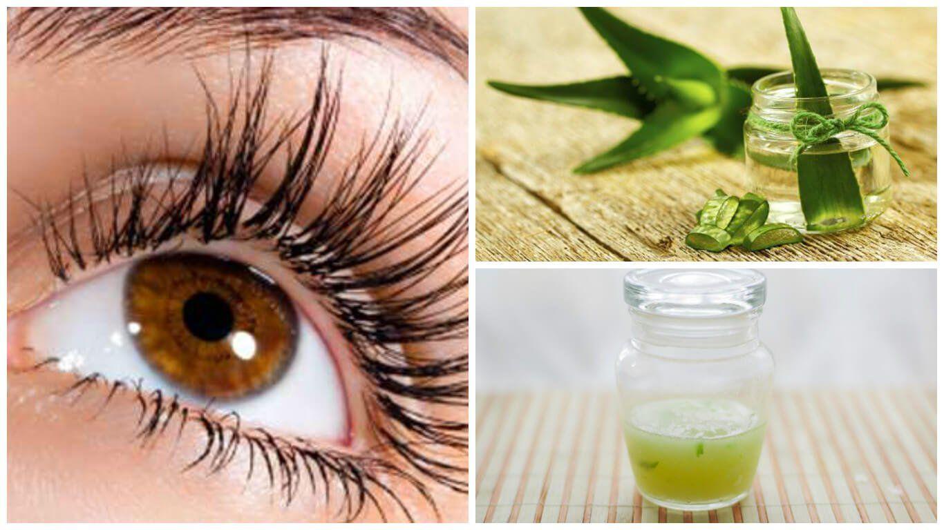 Fortalece Y Alarga Las Pestañas Con Este Tratamiento De Aloe Vera Y Vitamina E Alargar Pestañas Pestañas Crecimiento De Pestañas